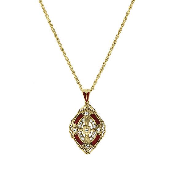 1928 Religious Jewelry Religious Jewelry 30 Inch Rope Cross Pendant Necklace