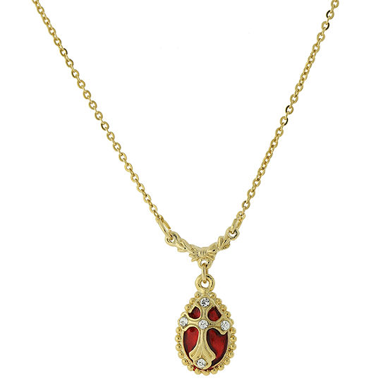 1928 Religious Jewelry Religious Jewelry 16 Inch Link Oval Pendant Necklace