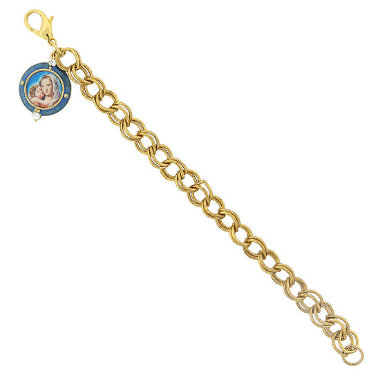 1928 Religious Jewelry Religious Jewelry 7.25 Inch Curb Chain Bracelet