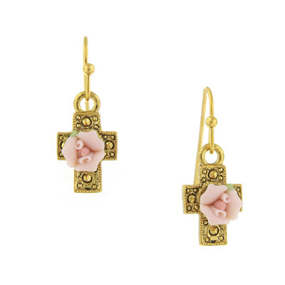 1928 Symbols Of Faith Religious Jewelry Drop Earrings