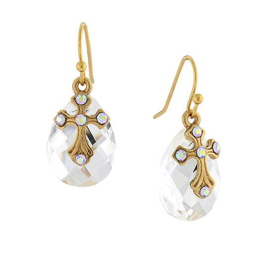 1928 Religious Jewelry Religious Jewelry 1 Pair White Drop Earrings