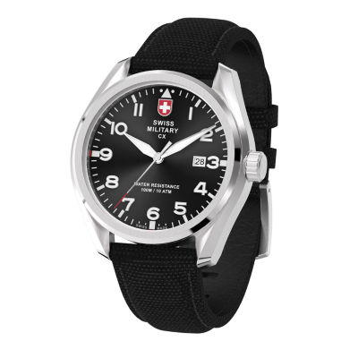 Swiss Military By Charmex Pilot Mens Black Strap Watch-78333_11_A