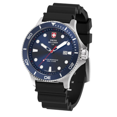 Swiss Military By Charmex Diving Mens Black Strap Watch-79292_9_G