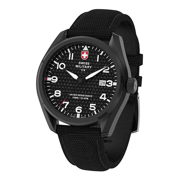 Swiss Military By Charmex Pilot Mens Black Strap Watch-78333_11_B