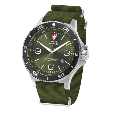 Swiss Military By Charmex Infantry Mens Green Strap Watch-78344_5_B