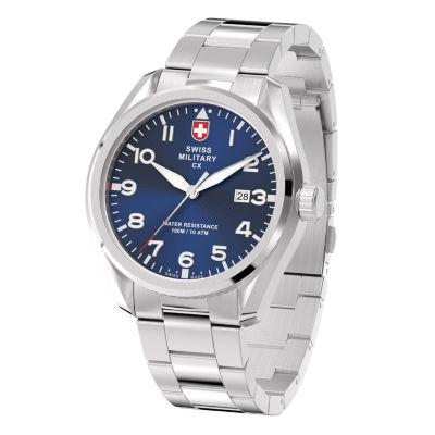 Swiss Military By Charmex Pilot Mens Silver Tone Bracelet Watch-78333_11_G