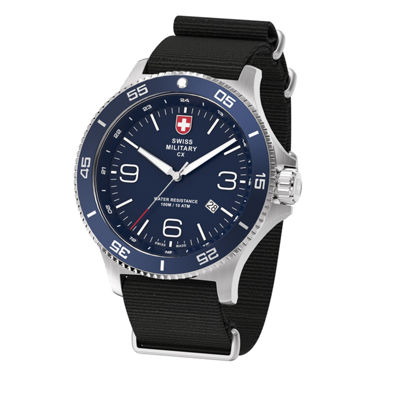 Swiss Military By Charmex Infantry Mens Black Strap Watch-78344_5_C