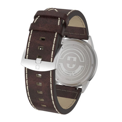 Swiss Military By Charmex Vintage Mens Brown Strap Watch-78335_8_C