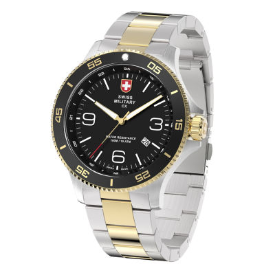 Swiss Military By Charmex Infantry Mens Two Tone Bracelet Watch-78344_5_F