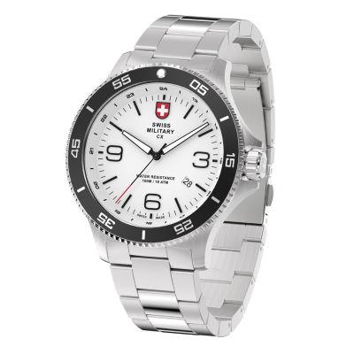 Swiss Military By Charmex Infantry Mens Silver Tone Bracelet Watch-78344_5_G