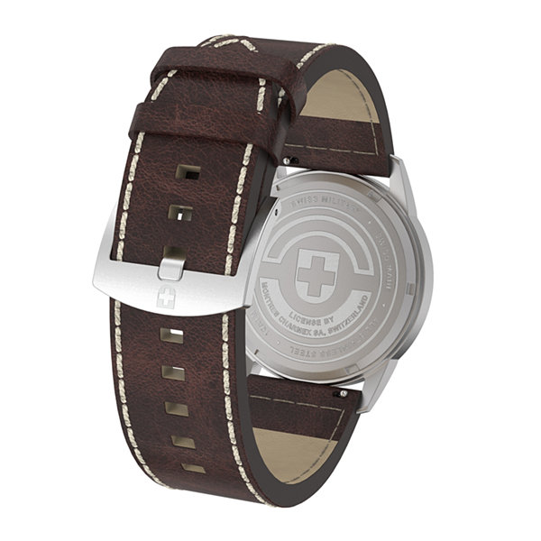 Swiss Military By Charmex Vintage Mens Brown Strap Watch-78335_8_E