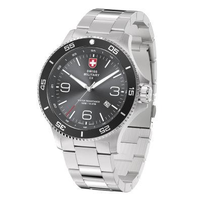 Swiss Military By Charmex Infantry Mens Silver Tone Bracelet Watch-78344_5_H