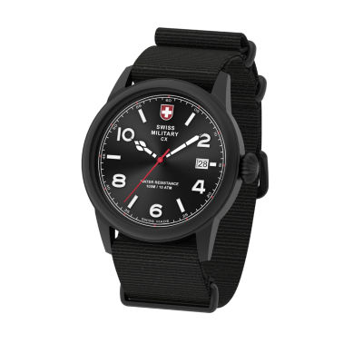 Swiss Military By Charmex Vintage Mens Black Strap Watch-78335_8_F