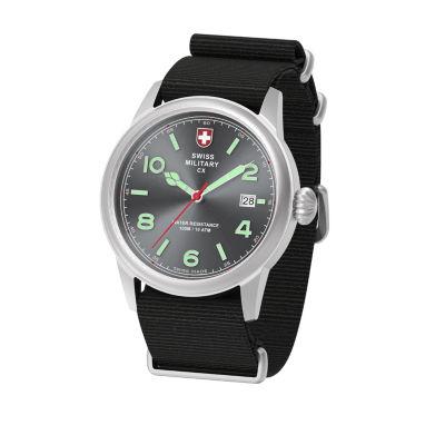Swiss Military By Charmex Vintage Mens Black Strap Watch-78335_8_G