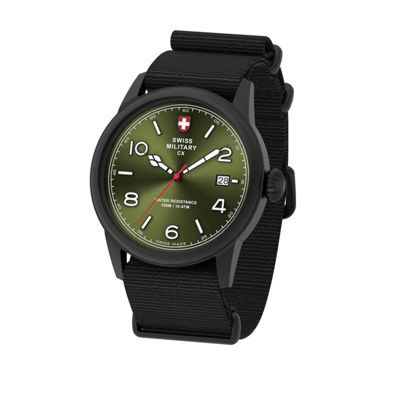 Swiss Military By Charmex Vintage Mens Black Strap Watch-78335_8_H