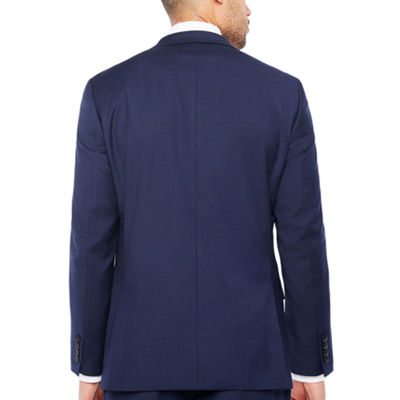 Claiborne Navy Texture Classic Fit Suit Jacket