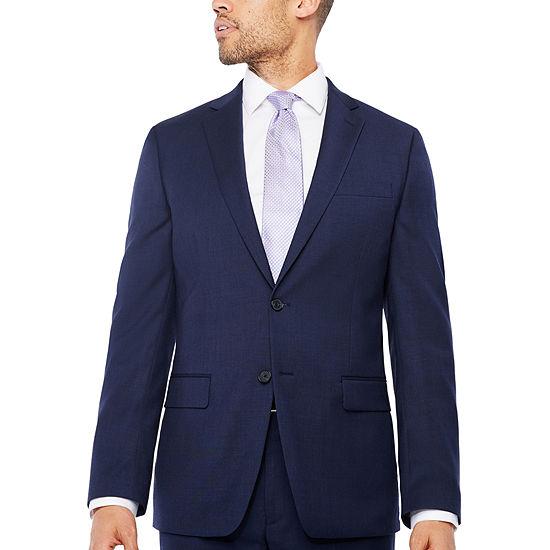Claiborne Navy Texture Classic Fit Suit Jacket