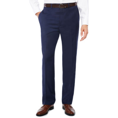 Claiborne Navy Texture Classic Fit Suit Pants