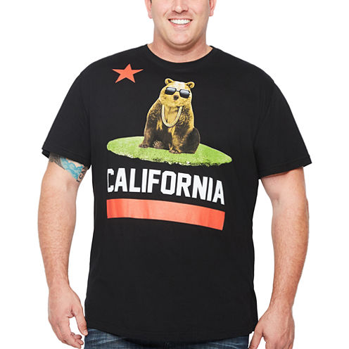 Short Sleeve Animal Graphic T-Shirt-Big and Tall
