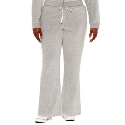Flirtitude Velour Workout Pants - Juniors Plus
