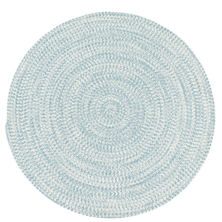 Colonial Mills Biscayne Tweed Braided Round Reversible Indoor/Outdoor Rugs, One Size , Blue Product Image