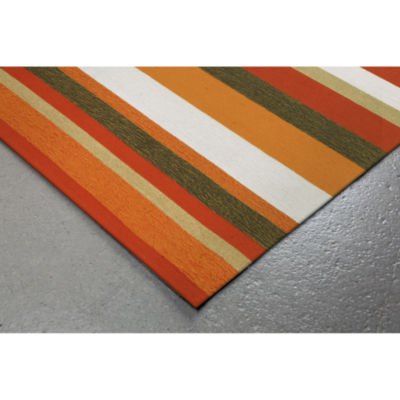 Liora Manne Ravella Stripe Hand Tufted Square Rugs