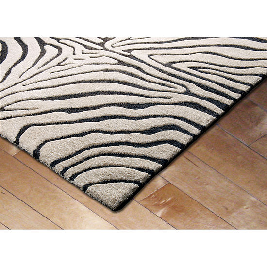 Liora Manne Seville Zebra Hand Tufted Rectangular Indoor Rugs