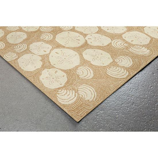Liora Manne Frontporch Shell Toss Hand Tufted Rectangular Indoor Outdoor Rugs