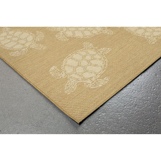 Liora Manne Terrace Seaturtle Rectangular Indoor/Outdoor Rugs