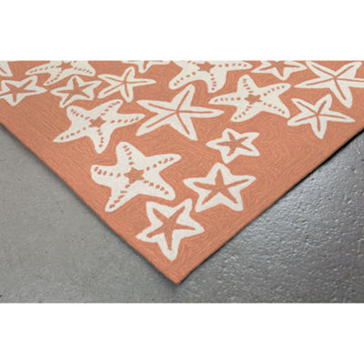 Liora Manne Capri Starfish Hand Tufted Rectangular Indoor/Outdoor Runner