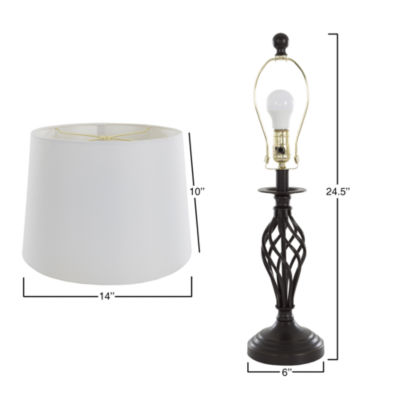 Lavish Home Spiral Cage 2-pc. Metal Table Lamp