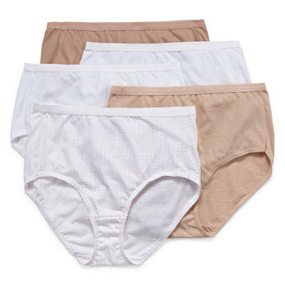 Hanes Ultimate™ Cool Comfort™ Cotton Ultra Soft 5 Pair Knit Brief Panty 40hucc