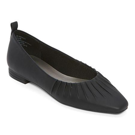 History of Victorian Boots & Shoes for Women Worthington Womens Keats Ballet Flats 8 12 Medium Black $27.99 AT vintagedancer.com
