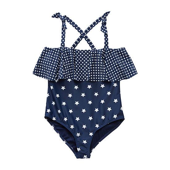 Peyton & Parker Family Swim Little & Big Girls Star One Piece Swimsuit
