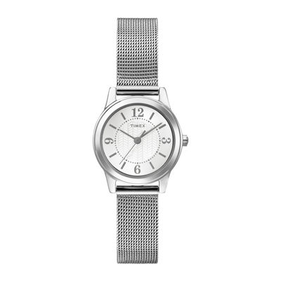 Timex® Womens Silver-Tone Stainless Steel Mini Modern Watch T2P4577R