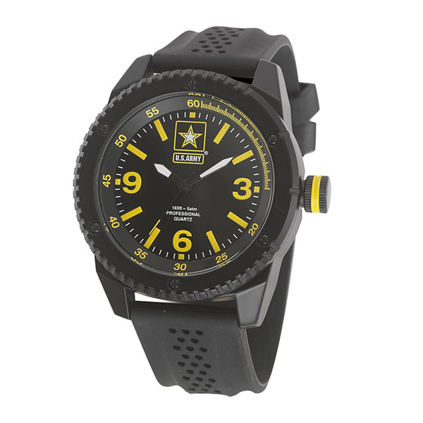 Wrist Armor® US Army Mens Rubber Strap Watch