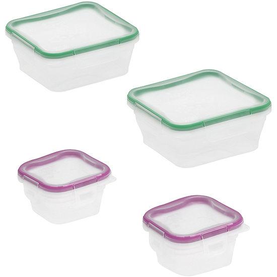Snapware Total Solution 8 Pc Plastic Food Storage Set