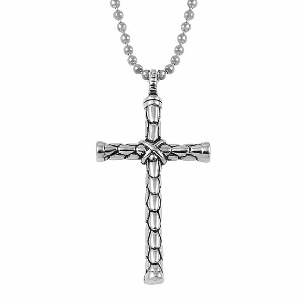 Stainless steel cross pendant mens stainless steel cross pendant necklace aloadofball Images