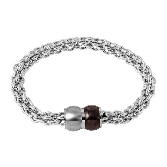 Mens Stainless Steel Braided Chain Bracelet