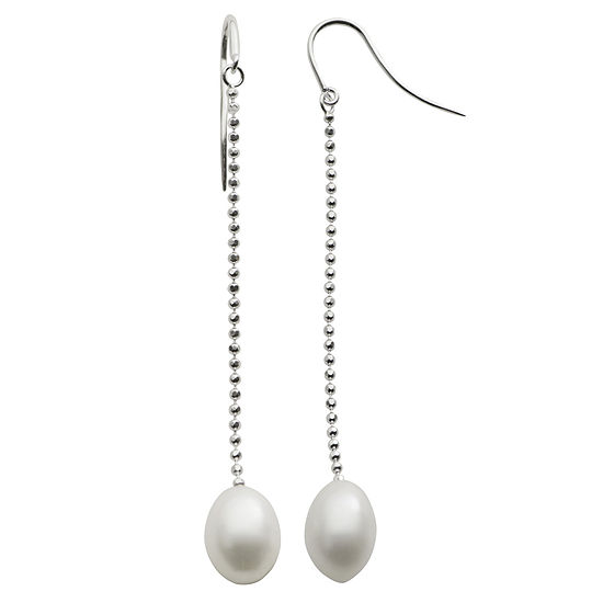 9-10Mm Cultured Freshwater Pearl Sterling Silver Earrings