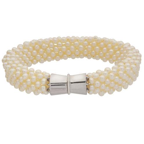 3.5-4Mm Cultured Freshwater Pearl Sterling Silver Bracelet