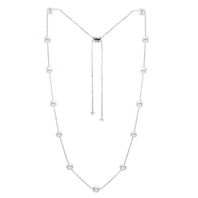 "36"" Cultured Freshwater Pearl Sterling Silver Necklace"