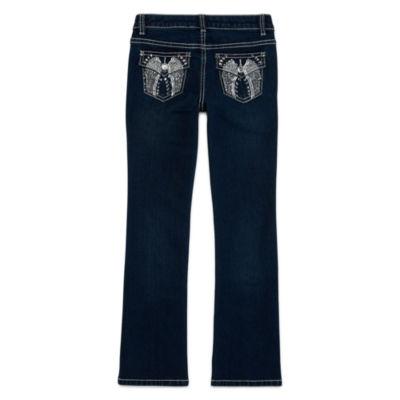 Arizona Embellished-Back-Pocket Bootcut Jeans - Girls 7-16 and Plus