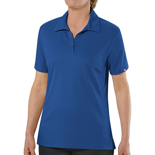 Red kap womens short sleeve performance polo jcpenney for Jcpenney ladies polo shirts