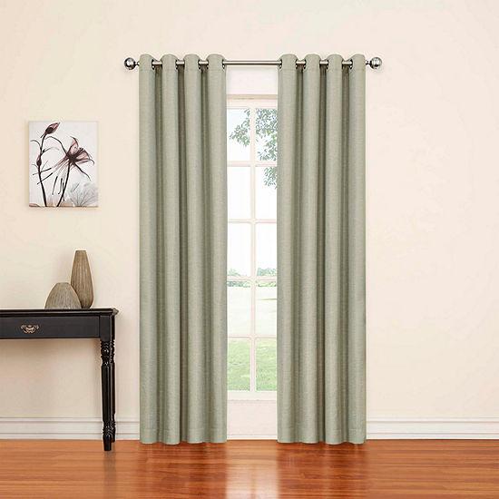 Eclipse Luxor Blackout Grommet-Top Single Curtain Panel