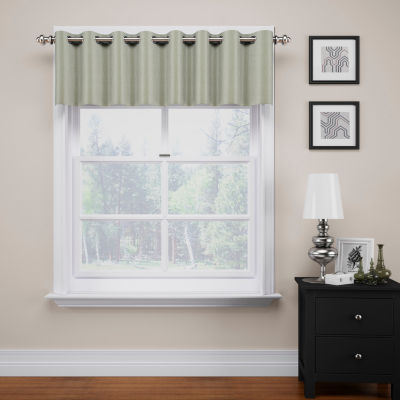 Eclipse Luxor Grommet-Top Blackout Kitchen Valance
