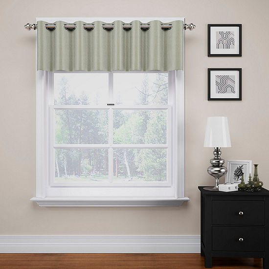 Eclipse Grommet-Top Kitchen Valance