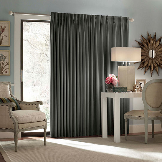 Eclipse Blackout Back-Tab Single Patio Door Curtain
