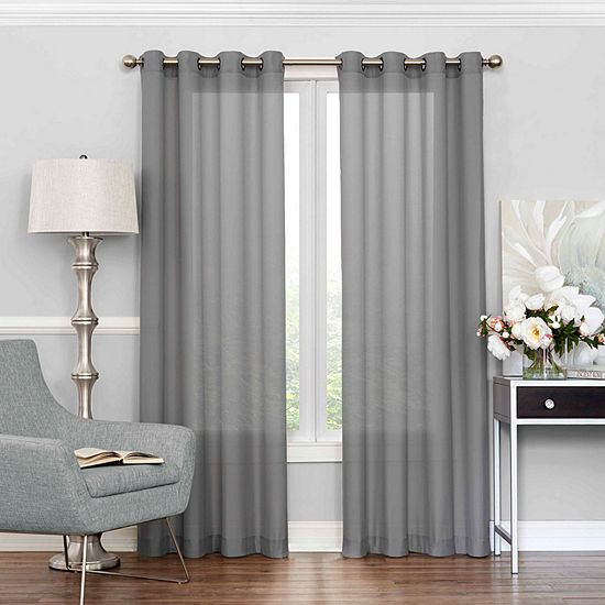 Eclipse Liberty Light-Filtering Grommet-Top Single Curtain Panel