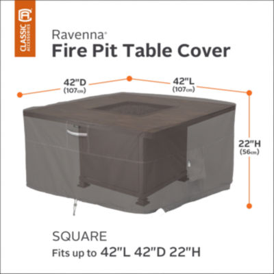 Classic Accessories® Ravenna Square Fire Pit Table Cover